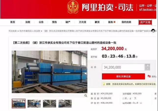 现有2条5600机型造纸生产线部分设备拍卖,坐标浙江!