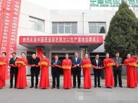 美利云举行中国纸业彩色纸出口生产基地揭牌仪式